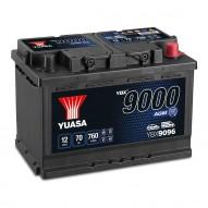 YUASA YBX9096 AGM Start Stop Plus Batteries 70 А/ч 760А