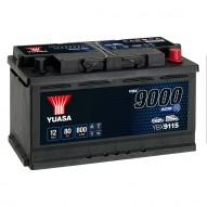 YUASA YBX9115 AGM Start Stop Plus Batteries 80 А/ч 800А