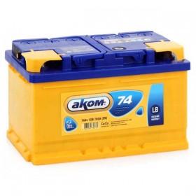 Аккумулятор АКОМ 74 А/ч LB (низкий)