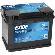 EXIDE 60 А/ч Start-Stop AGM EK600