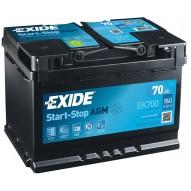 EXIDE 70 А/ч Start-Stop AGM EK700 (о.п)