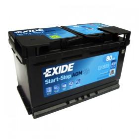 Аккумулятор EXIDE 80 А/ч Start-Stop AGM EK800