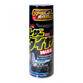 Leather & Tire Wax - полироль для кожи, резины, пластика Soft99, 420 мл