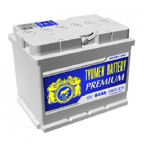 Автомобильный аккумулятор Tyumen Premium 64 А/ч