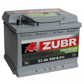 Аккумулятор ZUBR 63 А/ч Premium