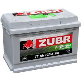 Аккумулятор ZUBR 77 А/ч Premium низкий